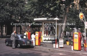 Lancia Appia serie 3 at Shell Service Station in Milan 1960